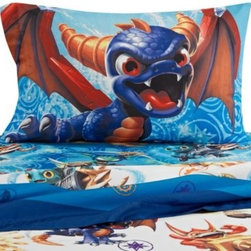 Franco Manufacturing Company, Inc. - Skylanders Sheet Set - This Skylanders sheet set is a great way to update your child's bedroom. These sheets are super soft and coordinate perfectly with the Skylanders comforter.