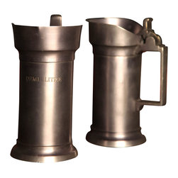 BoBo's Intriguing Objects - Demi Litre Pitcher - Pour it on with panache. This half-liter pitcher, based on the sort used in Belgian taverns, has a warm pewter finish that's refined, not flashy, to add a handsome touch to your table.