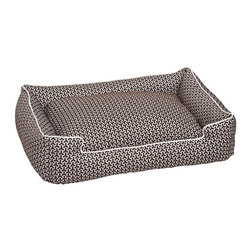 Jax & Bones - Jax & Bones Eve Lounge Bed Eve Chocolate Small - These beds have cozy surrounding bolsters which allow your pet to curl, snuggle, or lean against. Ideal for pets who need extra reassurance and warmth. These beds have zippers and removable inserts for easy maintenance and care. A diverse selection of heavy weight fabrics that are machine washable and luxurious to the touch. Most of these fabrics carry a texture that will create a uber luxurious upholstery feeling dog bed.  100% Machine Washable  and Certified Eco-Friendly!