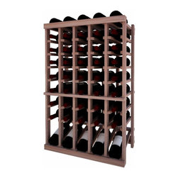 Wine Cellar Innovations - 5 Col Indv Top Stack w/Display; Vintner: Prime Mahogany, Unstained, 3 Ft - Each wine bottle stored on this five column individual bottle wine rack is cradled on customized rails that are carefully manufactured with beveled ends and rounded edges to ensure wine labels will not tear when the bottles are removed. This wine rack also has a built in display row. Purchase two to stack on top of each other to maximize the height of your wine storage. Moldings and platforms sold separately. Assembly required.