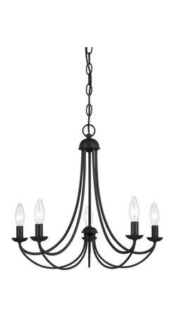 Quoizel Lighting - Quoizel MRN5005IB Mirren Imperial Bronze 5 Light Chandelier - 5, 60W B10 Candelabra