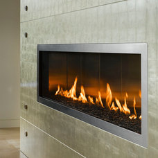 Contemporary Indoor Fireplaces by Vancouver Gas Fireplaces