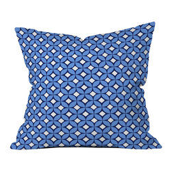 DENY Designs - Caroline Okun Blueberry Outdoor Throw Pillow - Do you hear that noise? it's your outdoor area begging for a facelift and what better way to turn up the chic than with our outdoor throw pillow collection? Made from water and mildew proof woven polyester, our indoor/outdoor throw pillow is the perfect way to add some vibrance and character to your boring outdoor furniture while giving the rain a run for its money.