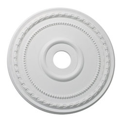 """Quorum Lighting - Quorum Lighting 24"""" Ceiling Medallion X-8-4203-7 - A generous 24"""" width and classic circular shape make this Quorum Lighting ceiling medallion and elegant addition to great rooms, dining rooms, grand foyers and more. Beaded and beveled edges are paired with traditional styling, all finished in a classic Studio White hue."""