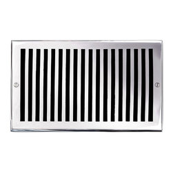 """Brass Elegans 116G CH Brass Decorative Air Return Vent Cover - Contemporary - Ch - This chrome finish solid brass air return vent cover with a contemporary design fits 6"""" x 10"""" duct openings and adds the perfect accent to your home decor."""