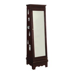 Crestview Collection - Crestview Rosemary Swivel Jewelry Armoire And Storage - Crestview Rosemary Swivel Jewelry Armoire And Storage