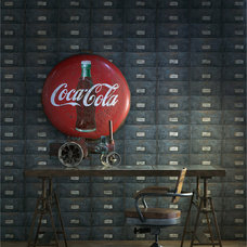 Industrial Wallpaper by Kathy Kuo Home