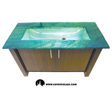 Bathroom Countertops by Coyote Glass Design