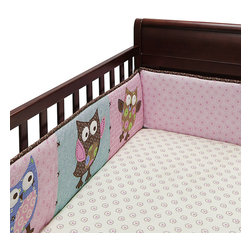 Banana Fish - Calico Owls Crib Sheet - The Calico Owls Crib Sheet from Bananafish features fun patchwork owls that will add cheer to any nursery. Browns pinks blues and greens offer a delightful color palette and embroidered touches finish off the set. Fits a standard crib mattress at 28 W x 52 L. 200 thread count. 100 cotton. Machine wash cold