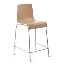 "Blu Dot - ""Blu Dot Counterstool Counterstool, Technical White Oak"" - ""Because counters should never have to play second fiddle to tables, we offer the Chair Chair in counter height as well. Choose from ebony, graphite-on-oak, technical white oak or white on a chrome-plated base. Enjoy. Enjoy. """