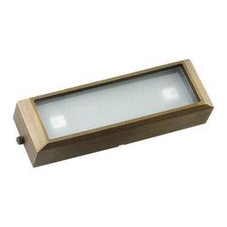 Best Quality Lighting (BQL) LV 52S Surface Mount, Antique Bronze - Die Cast Brass LV Long Surface Mounted Step Light