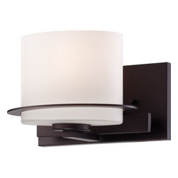 Nuvo Lighting - Nuvo Lighting 60/5001 Loren Single-Light Bathroom Fixture, Finished in Venetian - Nuvo Lighting 60/5001 Loren Single-Light Bathroom Fixture, Finished in Venetian Bronze with Oval Frosted Glass ShadeFinished in venetian bronze with etched opal glass or white linen shades, the unique chandeliers, pendants and vanities of the Loren Collection add a bold country look to kitchens, dining, living areas and baths - anywhere a distinctive design touch and soft task or ambient lighting is needed.Nuvo Lighting 60/5001 Features: