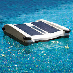 Frontgate - Robotic Solar Breeze Pool Skimmer - Solar Breeze eliminates hand-skimming. Reduces pool pump run-time by as much as 2/3. Uses environmentally friendly solar technology, so it costs nothing to operate. Also functions as a pool chemical dispenser. Moves automatically about the pool surface, clearing it of all floating debris – from leaves to pollen particles as small as 50 microns. The Solar Breeze Pool Skimmer allows you to enjoy a cleaner pool while saving time, money, and energy. Just turn on this automatic skimmer, place it in the water, and let the sun do all the work.  .  .  . .  . View instructions manual (PDF format)