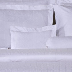 Pointehaven - 650 Thread Count Jacquard Boudoir Pillow in White - Features: -Boudoir pillow. -Color: White. -Material: Sateen weave, 100% pima cotton. -650 Thread count. -Fashion pillows, soft and luster. -Very fine fabric made on latest Jacquard looms. -Matching with luxury duvet sets.