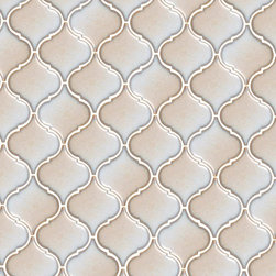 Tessen Cafe - Ceramic tile in an arabesque shape, adding Mediterranean flair to any surface inside or outside the home.