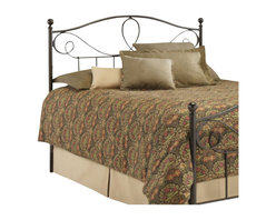 Fashion Bed - Fashion Bed Sylvania Metal Poster Headboard in French Roast-King - Fashion Bed - Headboards - B12776 - This simple and elegant headboard features a beautiful arched design, reminiscent of subtly curved flower petals, and delicately shaped posts with rounded finials. The Sylvania headboard is made entirely from durable metal materials and finished in a warm French Roast that is sure to enhance any bedroom with style and elegance.