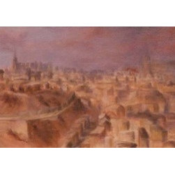 Views Of Toledo Iv (Original) by Jennifer Charboneau - This is a piece from a 6-set series based on the different viewpoints surrounding the city of Toledo.