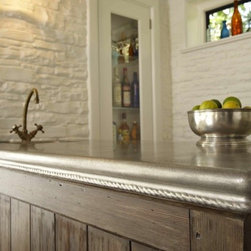 Franciscan Pewter Countertop - Francois & Co - Soft, supple curves lend a relaxed yet refined look to the Franciscan pewter countertop edge. The rope detail is hand-carved and grows more handsome with maturity as the pewter continues to patina over time.