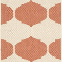 "Safavieh - Safavieh Courtyard CY6162-231 6'7"" x 9'6"" Beige, Terracotta Rug - Safavieh's Courtyard collection was created for today's indoor/outdoor lifestyle. These beautiful but practical rugs take outdoor decorating to the next level with new designs in fashion-forward colors and patterns from classic to contemporary. Made in Turkey with enhanced polypropylene for extra durability, Courtyard rugs are pre-coordinated to work together in related spaces inside or outside the home."