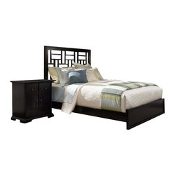 Broyhill - Broyhill Perspectives Lattice Low Bed 4 Piece Bedroom Set in Graphite - Broyhill - Bedroom Sets - 44444PcLatticeLowProBedSet - Broyhill Perspectives 9 Drawer Dresser in Graphite Finish (included quantity: 1) About This Product: