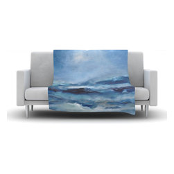 "Kess InHouse - Iris Lehnhardt ""Rough Sea"" Ocean Blue Fleece Blanket (60"" x 50"") - Now you can be warm AND cool, which isn't possible with a snuggie. This completely custom and one-of-a-kind Kess InHouse Fleece Throw Blanket is the perfect accent to your couch! This fleece will add so much flare draped on your sofa or draped on you. Also this fleece actually loves being washed, as it's machine washable with no image fading."