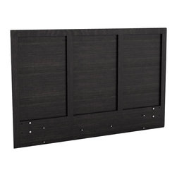 Sonax - Sonax Plateau Queen / Full Platform Headboard in Ravenwood Black - Sonax - Headboards - H102LPB - Invite modern style into your bedroom with this contemporary Platform headboard from Sonax. Pair this piece with any of our Sonax Platform Beds to complete the look. This set doesn't require a box spring, making it even easier to assemble. Featured in our bright and clean