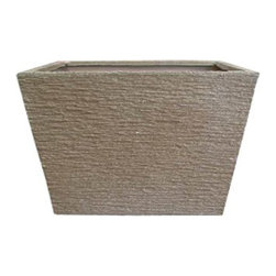 kasamoderndesign - Modern Sand Color Planter Pot, Small - Modern Sand Color Small Planter Pot to use Outdoor or Indoor Home Decoration Patio Garden LawnShips from and sold by Kasa Modern Design.