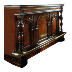Pulaski - Pulaski Carlton Manor Bar - The Accents Bar in Carlton Manor Finish by Pulaski Furniture is a lovely, brown centerpiece for any living room, dining room or parlor. The bar can be used to hold drinks for an evening with friends, or to showcase a buffet for dinner.