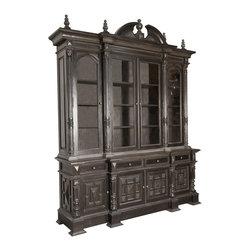 "NOIR - Noir Furniture - Kronenberg Hutch - Dimensions: 88"" X 22.5"" X 108"" H"