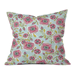 DENY Designs - Cori Dantini Blooming Blossoms Throw Pillow - Wanna transform a serious room into a fun, inviting space? Looking to complete a room full of solids with a unique print? Need to add a pop of color to your dull, lackluster space? Accomplish all of the above with one simple, yet powerful home accessory we like to call the DENY throw pillow collection! Custom printed in the USA for every order.