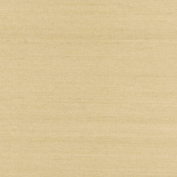 ShuFang Beige Grasscloth Wallpaper - A tight, rustic grasscloth weave lends a chic burlap finish to walls.