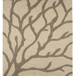 """Grandin Road - Orange Outdoor Rug - 3'6"""" x 5'6"""" - Hand-hooked of 100% fine-spun polypropylene for strength and enduring beauty. 1/4"""" pile withstands the wear-and-tear of heavy foot traffic, humidity and harsh elements. Ideal for both outdoor terraces or indoor family rooms. Indoor/outdoor rug washes clean with a hose. The hand-hooked Coral Outdoor Rug provides longwearing performance that stands up to harsh weather and heavy foot traffic. Inspired by the colors and spirit of casual seaside living, it's a great way to add enduring beauty to your indoor or outdoor decor.  .  .  .  . Imported."""