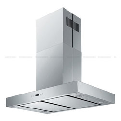 "Cavaliere - Cavaliere SV198Z-SPI36 36; Island Mount Range Hood - Mounting version - Island Mounted860 CFM centrifugal blowerThree-speed mechanical, soft-touch push button control panel. Four 35W halogen lights (Type: GU-10)Aluminum multi-layers micro-cell dishwasher-friendly grease filter(s)6"" round duct vent exhaust and back draft damperConvertible to duct-free operation (requires optional charcoal filter)Machine crafted stainless steel (brushed finish)Telescopic flue accommodates 8ft to 9ft ceilings (optional flue extension available for up to 12ft ceiling)Full Seamless Stainless SteelFor residential use only, one-year limited factory warranty"