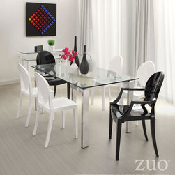 Anime Dining Chair by Zuo Modern - All out style and glamour are the traits for these chairs. The epitome of a nouveau classic, the body is molded from polycarbonate or Lexan, which is commonly used as bullet proof glass and is UV resistant. The Anime series comes with a two year commercial grade warranty against cracking and fading. The chairs are also stackable for easy storage. - See more at: http://www.cressina.com/anime-dining-chair-by-zuomod.html#sthash.HmrKxhq0.dpuf