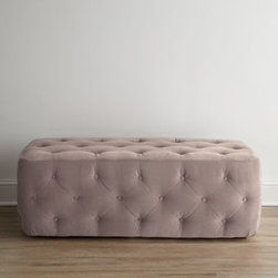 Horchow - Dixon Rectangular Ottoman - Exclusively ours. Seating—or foot propping space—fit for royalty, this rectangular ottoman features button tufting on the top and sides. And it comes in your choice of colors, which makes it even better. Kiln-dried hardwood frame. Polyeste...