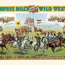 "Buyenlarge.com, Inc. - Buffalo Bill: Pawnee Bill and Paris - Paper Poster 12"" x 18"" - Another high quality vintage art reproduction by Buyenlarge. One of many rare and wonderful images brought forward in time. I hope they bring you pleasure each and every time you look at them."