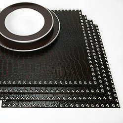 Faux Croc Placemats with Silver Studs Set of 4