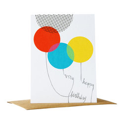 Yellow Owl Workshop - Dots & Dyes Birthday Card - Printed in San Francisco with veggie-based inks on 100% PCW paper.
