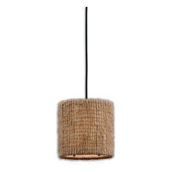 Uttermost - Burleson 1-Light Mini Drum Pendant - Embrace the natural look in your decor. An open-weave twine shade lends pleasing texture to this small pendant — such a lively way to illuminate your favorite setting.