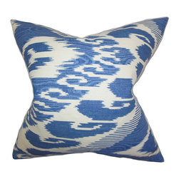 The Pillow Collection - Fernande Blue 18 x 18 Ikat Throw Pillow - - Pillows have hidden zippers for easy removal and cleaning  - Reversible pillow with same fabric on both sides  - Comes standard with a 5/95 feather blend pillow insert  - All four sides have a clean knife-edge finish  - Pillow insert is 19 x 19 to ensure a tight and generous fit  - Cover and insert made in the USA  - Spot clean and Dry cleaning recommended  - Fill Material: 5/95 down feather blend The Pillow Collection - P18-PT-VARI-HYACINTH-L100