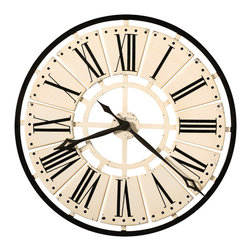 "Howard Miller - Howard Miller Antique White 31"" Wall Clock 