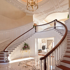 Traditional Staircase by Tracy A. Davis
