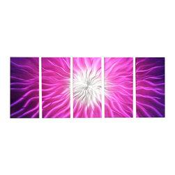 Matthew's Art Gallery - Metal Wall Art Sculpture Abstract Purple Electric Shock - Name: Purple Electric Shock