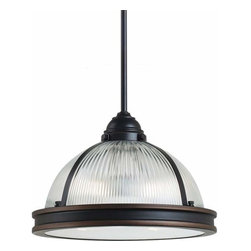 Sea Gull Lighting - 2-Light Pendant Autumn Bronze - 65061-715 Sea Gull Lighting Pratt Street Prismatic 2-Light Pendant with a Autumn Bronze Finish