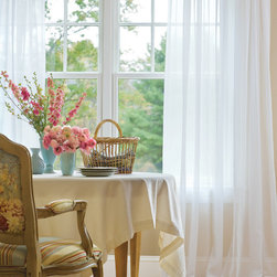 Cotton Voile Rod Pocket Curtains - Dreamy, translucent Voile, extraordinary for softening the light at your window!