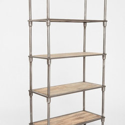 Heritage Bookshelf - This metal and wood shelf not only has a great price, but its industrial style will surely add instant style to your home.