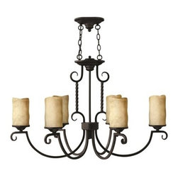 Hinkley Lighting - Hinkley Casa Olde Black Six-Light 23 Wide Chandelier - Casa makes the most of its fine details- individually unique antique scavo glass twisted wrought iron and hand-forged scrollwork in an Olde Black finish complete its rustic-chic appeal with a Southwestern flair.Under four generations of family leadership Hinkley Lighting has transformed from a small outdoor lantern company to a global brand intent on bringing you the best in style quality and value. LIFE AGLOW: That's their mantra and they take it seriously. By welcoming their products into your home they become part of your family's everyday life illuminating small moments and big occasions. They understand your home is so much more than a physical place. It's an emotional space designed by you so they are committed to keeping your 'Life Aglow' with stylish state-of-the-art lighting. Their products are the ultimate combination of style and substance. They are constantly developing new technologies to make their fixtures even more energy efficient. Hinkley recently upgraded their LED to cutting-edge high lumen output integrated solutions and they give you hundreds of energy-efficient styles to choose from. Even their Cleveland-based world headquarters employs high energy saving standards with low VOC materials and a variety of eco-smart applications into the design to make an earth-friendly work environment for their Hinkley family. Hand crafted fixtures luxe finishes artistic details and quality materials go into the design of every product they make. They embrace the philosophy that you can merge together the lighting furniture art and accessories you love into a beautiful environment that defines your own personal style.