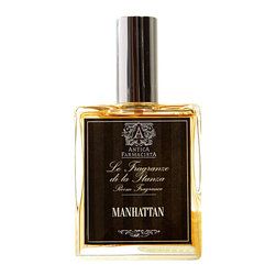 Antica Farmacista Manhattan Room Spray - 100ML - In honor of the classic cocktail and a city that never sleeps, this tribute to both is a captivating infusion of Satsuma, Bergamot and black pepper with a subtle brandied cherry note. The fragrances is topped off with rich notes of cognac, vetiver, amber and bourbon.  The Manhattan fragrance is an ode to city life - a modern, sultry fragrance perfect for a Soho loft. The Manhattan Room Spray can be spritzed liberally around any indoor space to subtly fragrance the area.