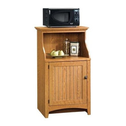Sauder - Summer Home Gourmet Utility Stand in Carolina - Adjustable shelf behind framed door with beaded panel. Made of engineered wood. Assembly required. 28 in. W x 19 in. D x 48 in. H