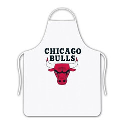 Sports Coverage - NBA Chicago Bulls Tailgate Apron - Show your NBA team spirit with this screen printed Chicago Bulls Tailgate Apron from Sports Coverage Inc! Keep yourself clean while supporting your team with this Apron. The 100% cotton twill apron is boldly emblazoned with the team logo.     Features:  -  100% cotton ,   -  One size fits most,   -  Team logo in the center,   -  Screen printed logo.,